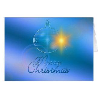 Tarjeta Felices Navidad, ornamento, negocio
