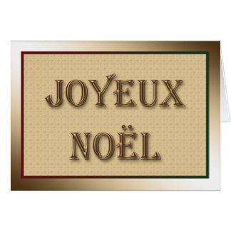 Tarjeta Felices Navidad que saludan en francés