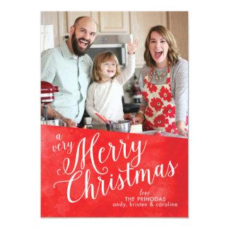 Tarjeta Felices Navidad rojas