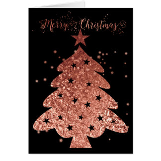 Tarjeta Felices Navidad rosa y encanto negro