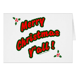 Tarjeta ¡Felices Navidad usted!