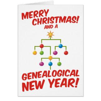 Tarjeta ¡Felices Navidad y un Año Nuevo genealógico!