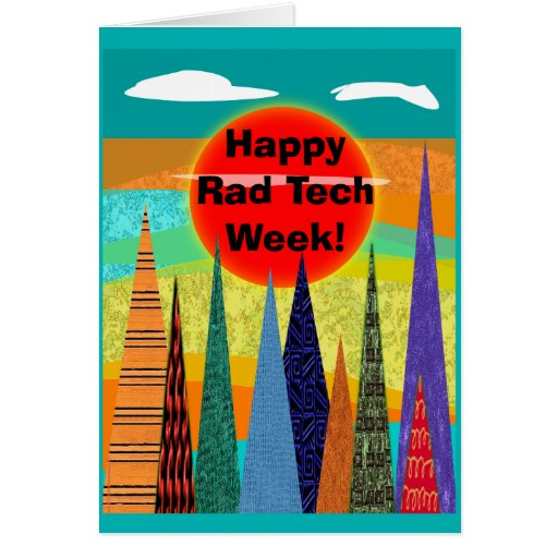 Tarjeta feliz 2 de la semana de la tecnología de