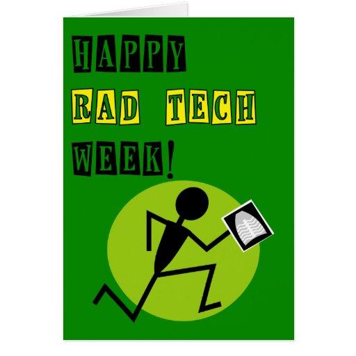 Tarjeta feliz 4 de la semana de la tecnología de