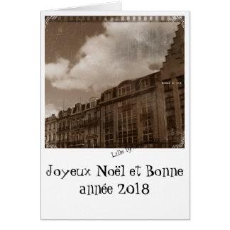 Tarjeta feliz año nuevo 2018 de Lille vielli
