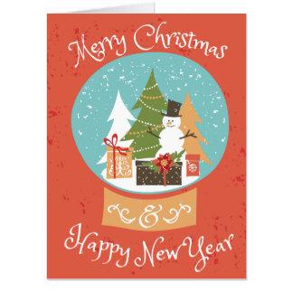 Tarjeta Feliz Año Nuevo de las Felices Navidad