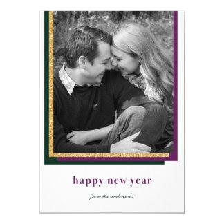 Tarjeta Feliz Año Nuevo moderna