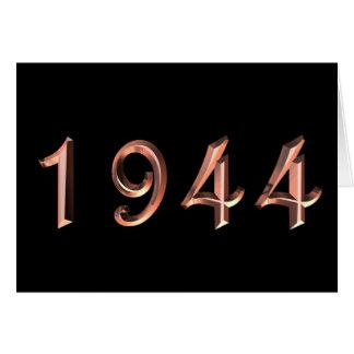 Tarjeta Feliz cumpleaños 1944 años de años 40 de los años
