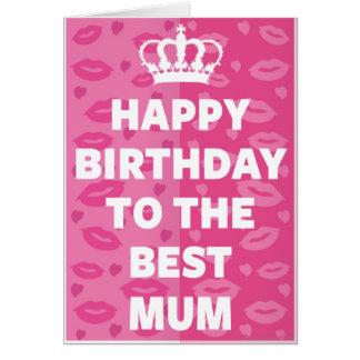 Tarjeta Feliz cumpleaños a la mejor momia