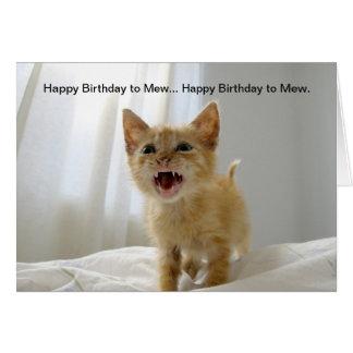 Tarjeta Feliz cumpleaños a maullar