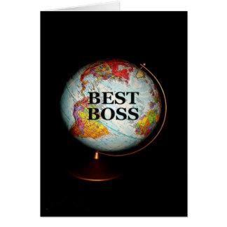 Tarjeta ¡Feliz cumpleaños a mejor Boss en la tierra!