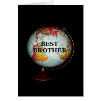 Tarjeta ¡Feliz cumpleaños a mejor Brother en la tierra!