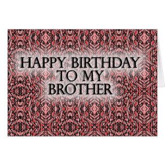 Tarjeta Feliz cumpleaños a mi Brother
