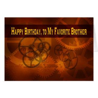 Tarjeta Feliz cumpleaños, a mi steampunk preferido de