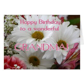 Tarjeta ¡Feliz cumpleaños a una abuela maravillosa! -