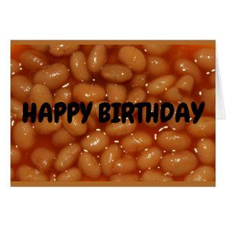 Tarjeta ¡Feliz cumpleaños a una de mis habas humanas