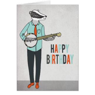 Tarjeta Feliz cumpleaños - acose jugar el coche del saludo