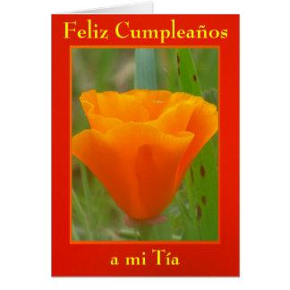 Tarjeta - Feliz Cumpleaños al MI Tía