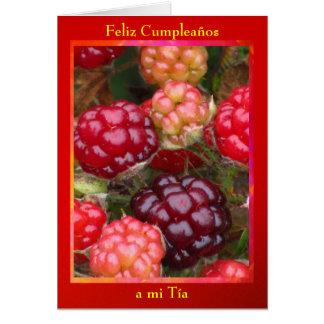 Tarjeta - Feliz Cumpleaños al MI Tía - Las Moras