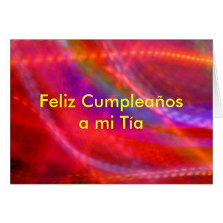Tarjeta - Feliz Cumpleaños al MI Tía - multicolora