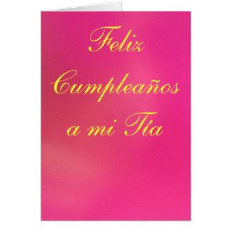 Tarjeta - Feliz Cumpleaños al MI Tía - Rosa