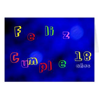 Tarjeta - Feliz Cumpleaños - Azul-Multicolora