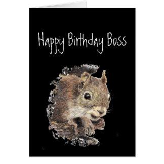 Tarjeta Feliz cumpleaños Boss, a solamente uno sano en