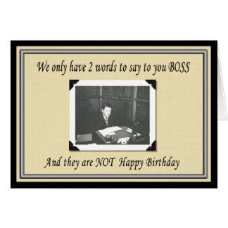 Tarjeta Feliz cumpleaños Boss del grupo