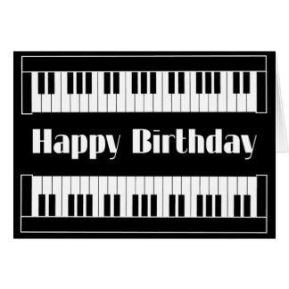 Tarjeta Feliz cumpleaños de los teclados