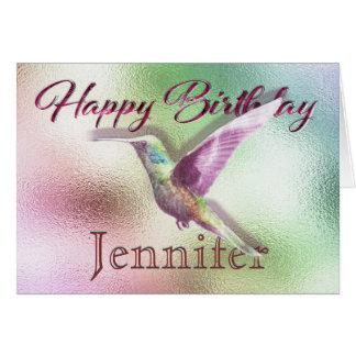 Tarjeta Feliz cumpleaños del colibrí