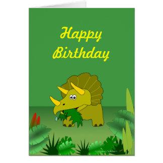 Tarjeta Feliz cumpleaños del dinosaurio adaptable del