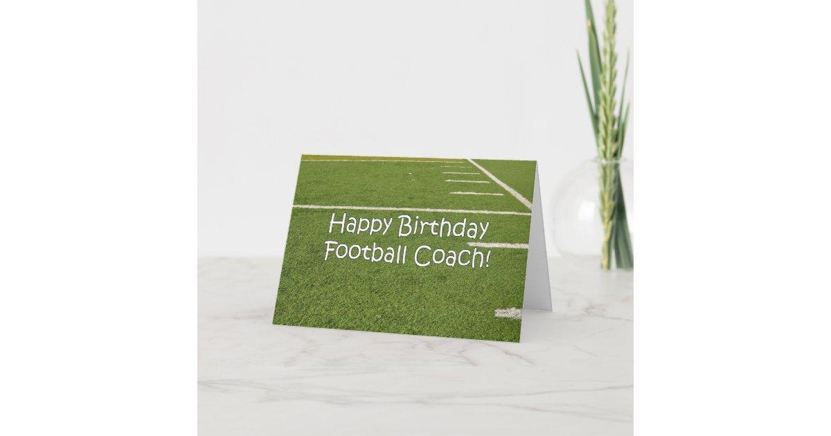 Tarjeta Feliz cumpleaños del entrenador de fútbol en | Zazzle.es
