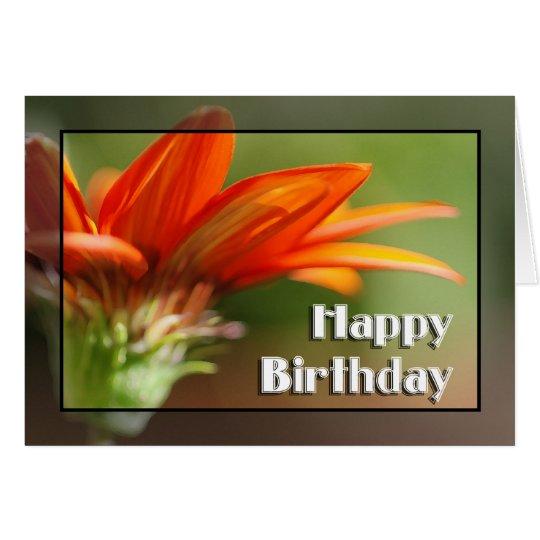 Tarjeta Feliz cumpleaños del Gazania