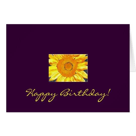 Tarjeta ¡Feliz cumpleaños del girasol!