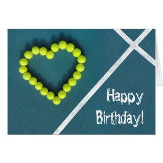 Tarjeta Feliz cumpleaños del jugador de tenis