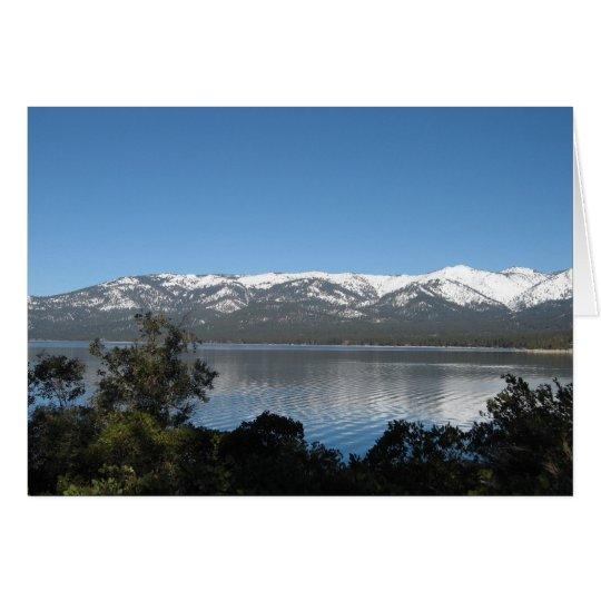 Tarjeta Feliz cumpleaños del lago Tahoe