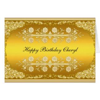 "Tarjeta ""feliz cumpleaños "" del oro"
