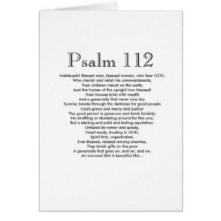 Tarjeta ¡Feliz cumpleaños del salmo 112!