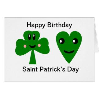 Tarjeta Feliz cumpleaños: El día de San Patricio