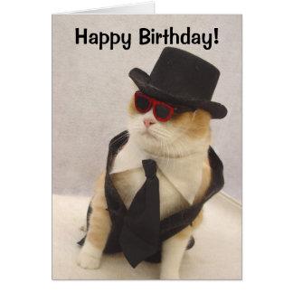 Tarjeta ¡Feliz cumpleaños, gato fresco!