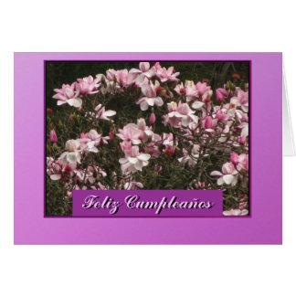 Tarjeta - Feliz Cumpleaños - Las Flores