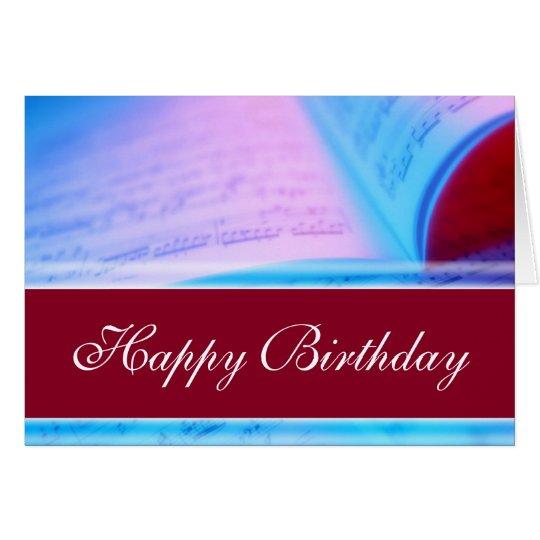 Tarjeta Feliz cumpleaños - música o profesor cantante