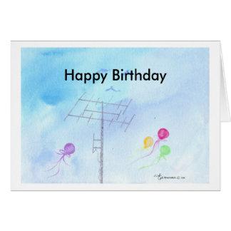Tarjeta Feliz cumpleaños, operador del jamón