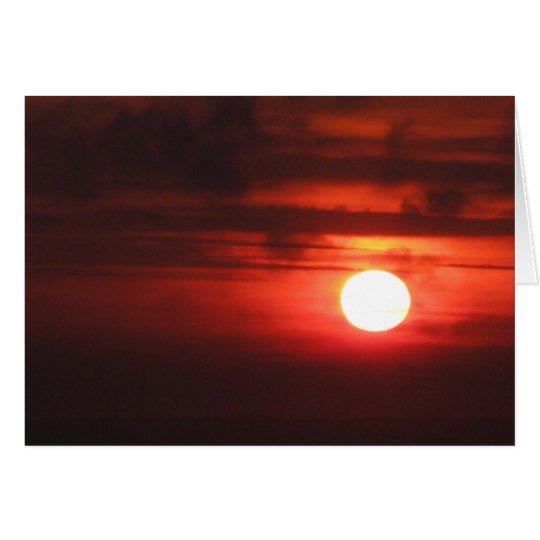 Tarjeta Feliz cumpleaños - puesta del sol ardiente II