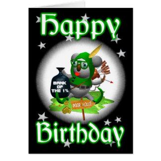 Tarjeta Feliz cumpleaños RobinHoodie de la koala