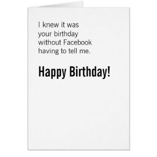 Tarjeta Feliz cumpleaños sin Facebook