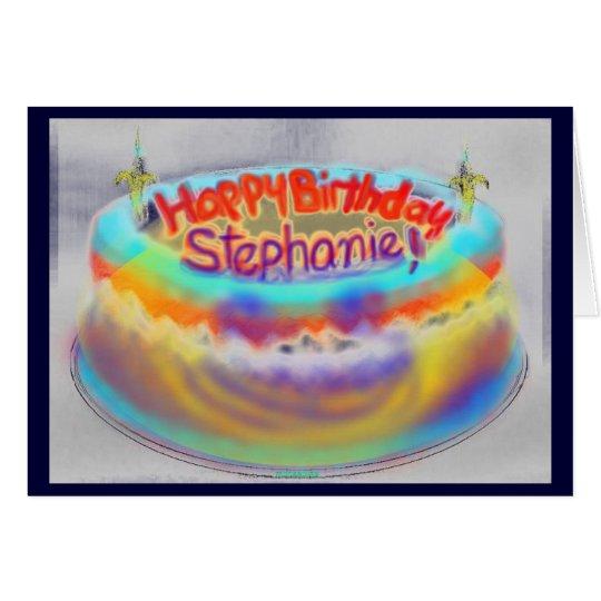 Tarjeta ¡Feliz cumpleaños Stephanie!