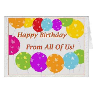 Tarjeta ¡Feliz cumpleaños todos nosotros!