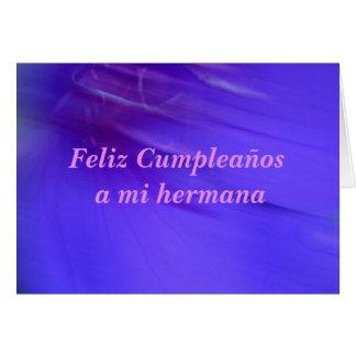 Tarjeta - Feliz Cumpleaños un hermana del MI Tarjeta De Felicitación
