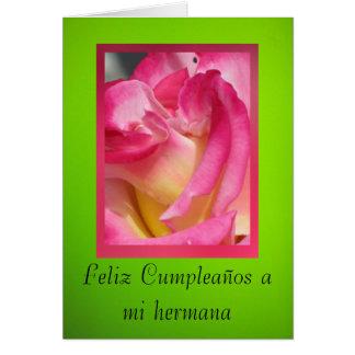 Tarjeta: Feliz Cumpleaños un hermana del MI Tarjeta De Felicitación